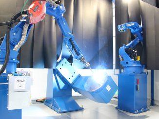 Cellule robotisée pour la fabrication additive par soudage de l'IRT Jules Verne.