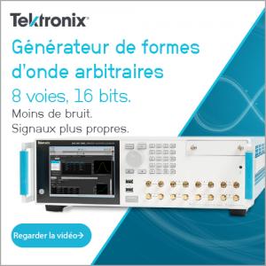 Générateur de formes d'onde arbitraires, 8 voies, 16 bits.
