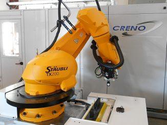 Cellule d'usinage avec robot de Creno