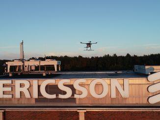 Drone pour le test de réseaux 5G conçu par Ericsson et Rohde & Schwarz.