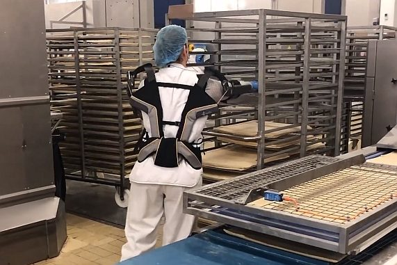 Ergosquelette IP12 modèle Skelex de Gobo chez Bridor.