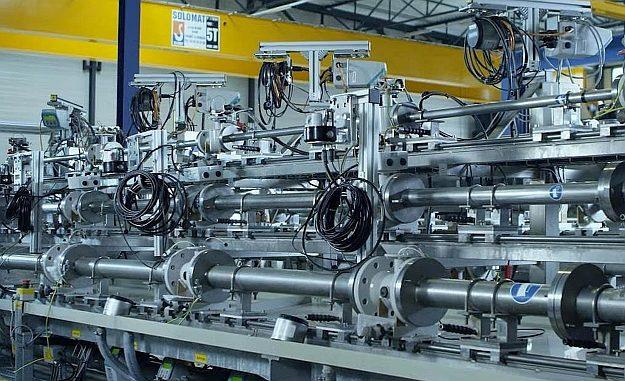 Banc d'étalonnage de l'usine Siemens d'Haguenau.