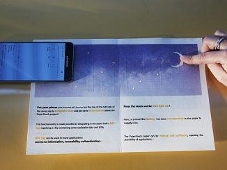 Communication NFC avec papier PaperTouch