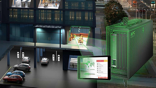 Solution d'Edge Computing EcoStruxure Micro Data Center 6U de Schneider Electric.