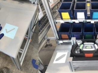 Système d'assistance pour l'assemblage ActiveAssist de Bosch Rexroth.