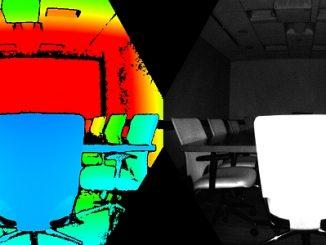 Image prise par la caméra de mesure de profondeur Azure Kinect DK de Microsoft