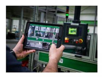 Application d'aide à la maintenance combinant 5G et réalité augmentée dans l'usine du Vaudreuil de Schneider Electric.