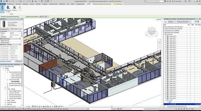 Logiciel BIM d'Autodesk pour fluides et électricité