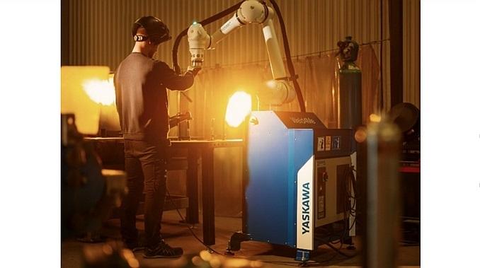 Robot de soudage collaboratif Motoman Weld4me de Yaskawa.