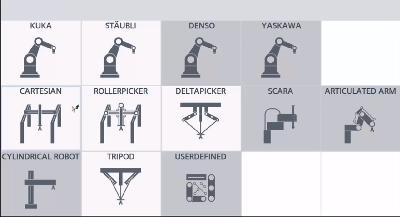 Outil de configuration du robot dans le logiciel Simatic Robot Integrator de Siemens