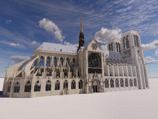 Modèle BIM de la cathédrale Notre-Dame de Paris par Autodesk