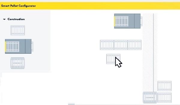 Logiciel de configuration graphique et de simulation du Smart Pallet Mover