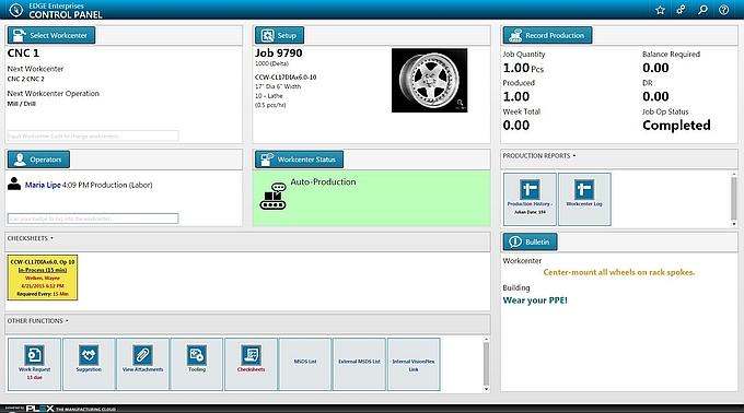 Logiciel MES et ERP accessible en Cloud en mode SaaS de Plex Systems.