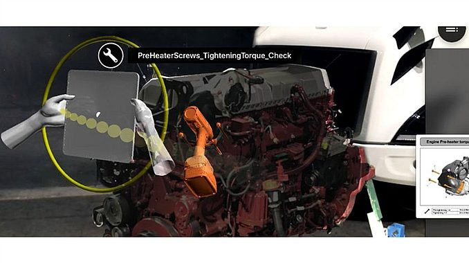 Utilisation de la solution de réalité augmentée Vuforia de PTC par Volvo.