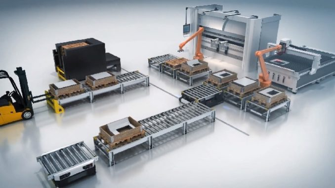 Solution de convoyage robotisée Smart Pallet Mover de Interoll